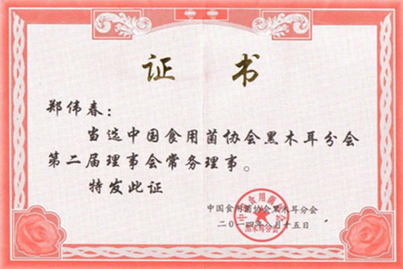 中国食用菌协会黑木耳分会常务理事单位
